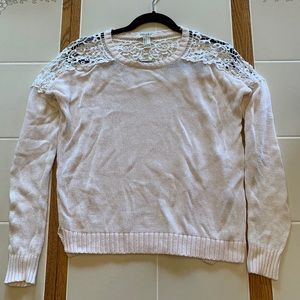 Forever 21 Lace Detailed Sweater